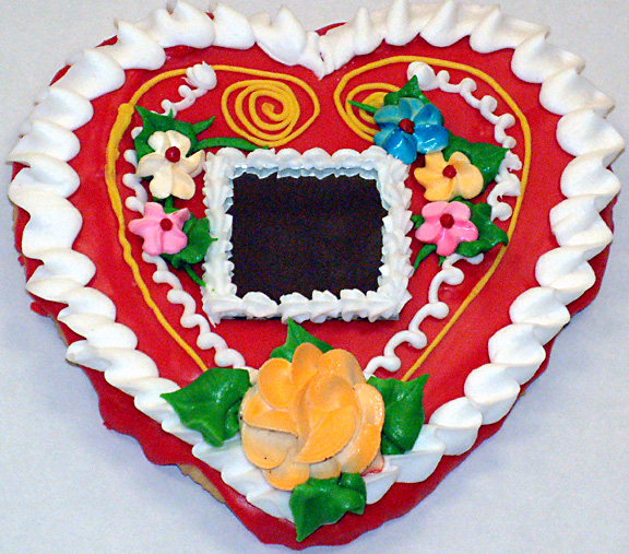 Small heart cake decorations