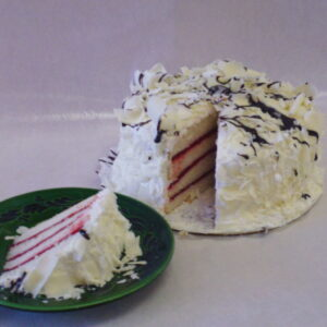 White Chocolate Raspberry Torte - Dobo's Delights